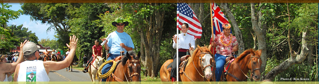 Annual Historic Koloa Plantation Days Parade at Koloa Plantation Days