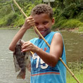 Keiki Fishing at Waita