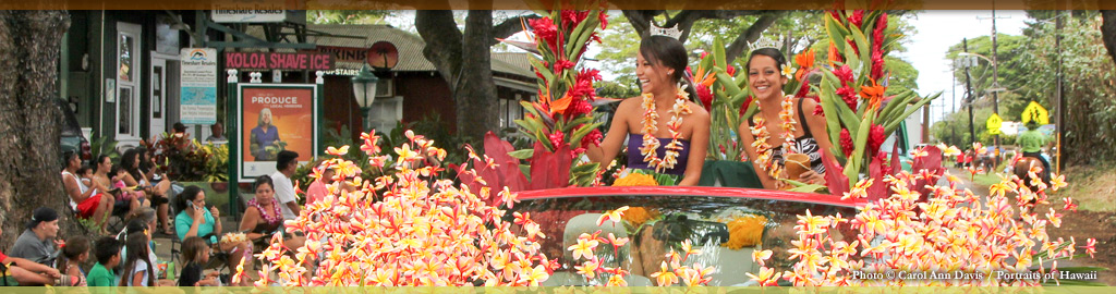 Daily schedule of events at Koloa Plantation Days, Kauai, Hawaii