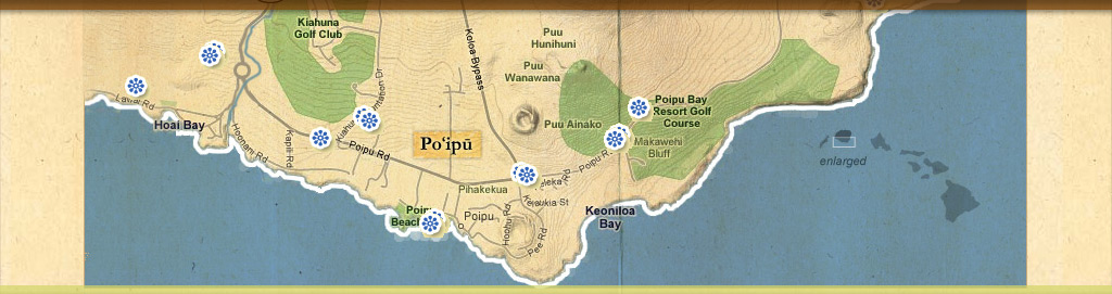Map of events at Koloa Plantation Days, Kauai, Hawaii
